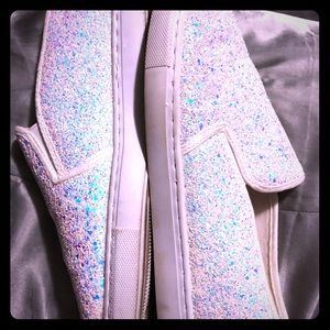 Sparkly Slide On Shoes